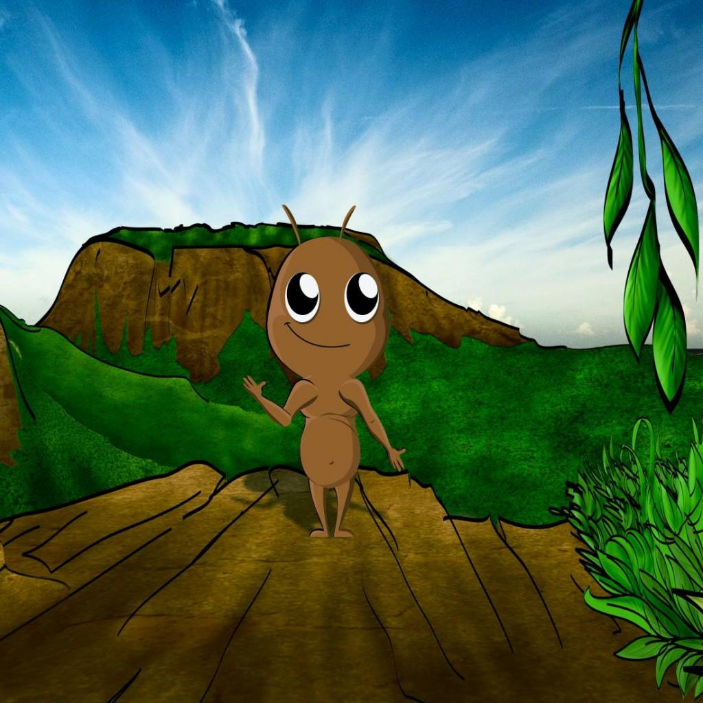 Animación puppet de hormiga