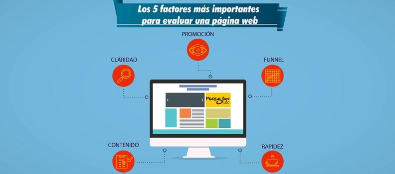 Los 5 factores más importantes para evaluar una página web